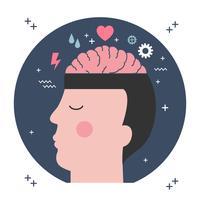 Ilustração em vetor de saúde mental