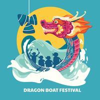 Ilustração do Festival do Barco-Dragão