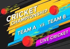 Vetor de campeonato de críquete