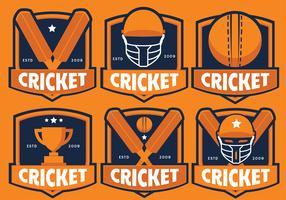 Pacote de vetores de críquete