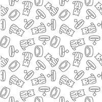 ícone de contorno de cão sem costura padrão-los para uso como papel de embrulho vetor