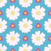 floral padrão sem emenda, design plano para uso como pano de fundo, papel de embrulho ou papel de parede vetor