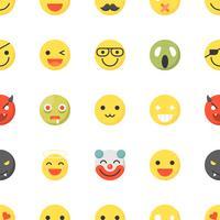 Emoticon sem costura padrão, design plano para uso como papel de parede ou plano de fundo vetor
