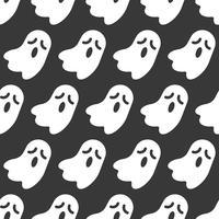 Fantasma, padrão sem emenda de Halloween, design plano com máscara de recorte vetor