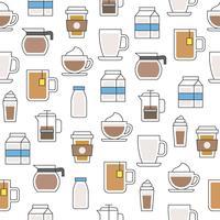 padrão sem emenda de café para papel de parede ou papel de embrulho vetor