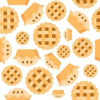 Projeto liso do produto da padaria do teste padrão sem emenda da torta vetor