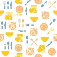 padrão sem emenda de utensílios de cozinha para papel de parede ou impressão em papel de embrulho e guardanapo vetor