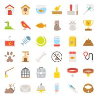 Loja de animais relacionados e símbolo