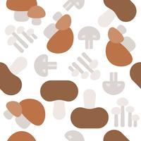 Cogumelo padrão sem emenda, papel de parede vegetal design plano vetor