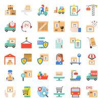 Logística e transporte ícone de negócios vetor