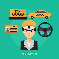 Ilustração conceitual de motorista de táxi
