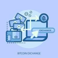 Ilustração conceitual de Bitcoin Exchange Design