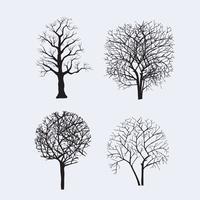 silhuetas de árvores para design vetor