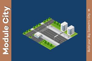 Interseção de ruas da cidade vetor