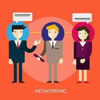 Ilustração conceitual de redes Design vetor