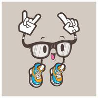 mascote legal óculos nerd