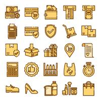Pacote de ícones de varejo vetor