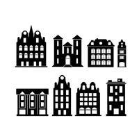Um conjunto de elementos da cidade de design vetor