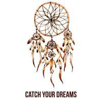 Ícone de dreamcatcher indiano americano vetor