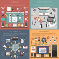 Conceito de design web vetor
