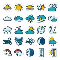 Pacote de ícones do tempo vetor