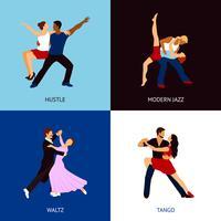 Conjunto de pessoas dançando
