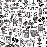 Padrão sem emenda com símbolos de energia vetor