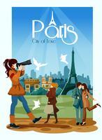 Ilustração de cartaz de Paris