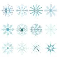 Conjunto de Natal de flocos de neve
