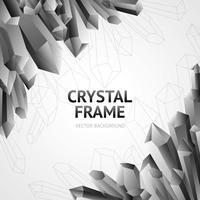 Moldura de Minerais de Cristal vetor