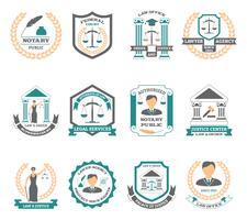 Advogado Logo Set vetor