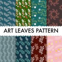 Art Leaves Pattern fundo vetor