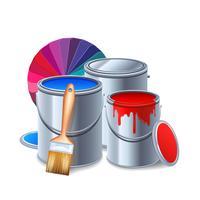 Composição de ferramentas de pintura vetor