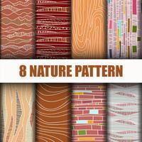 Conjunto abstrato padrão de natureza