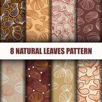 8 padrão de folhas bonitas
