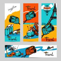 Conjunto de Banner de foto de viagem