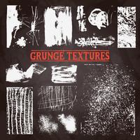 Conjunto de textura Grunge de lousa vetor