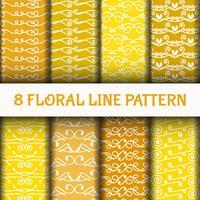 8 conjunto padrão de arte linha abstrata