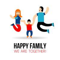 Conceito de família feliz vetor