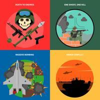Conjunto de ícones de guerra vetor