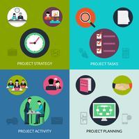 Conjunto de gerenciamento de projetos vetor