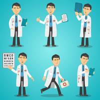 Conjunto de caracteres do médico vetor