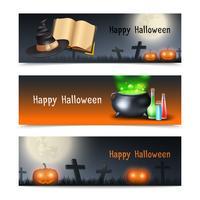 Conjunto de Banner de Halloween vetor