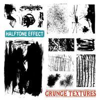 Texturas de desenho de grunge meio-tom vetor