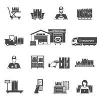 Conjunto de ícones de armazenamento vetor