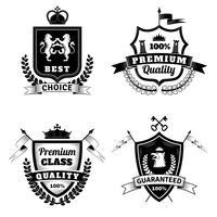 Conjunto de emblemas escolha melhor heráldica vetor