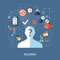 Ilustração do conceito de dilema vetor