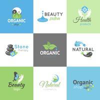 Logotipos de design de beleza