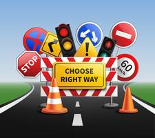 Escolha o caminho certo conceito realista vetor