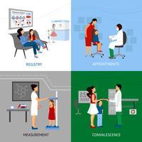 Conceito de Design de pediatra vetor